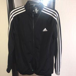 Classic Black Adidas Tracksuit Jacket